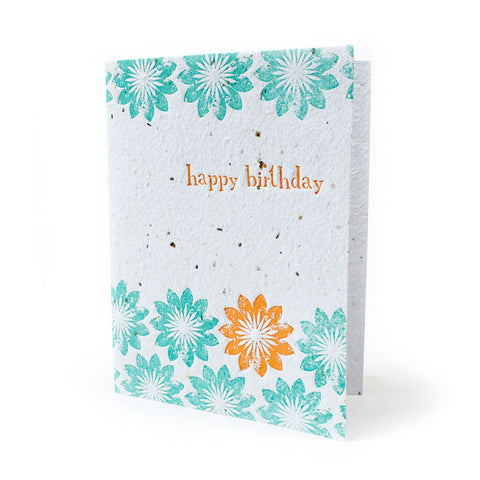 Bloomin Greeting Card - Birthday Blooms