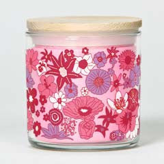 Tru Melange SOL Printed Jar Candle - Blush