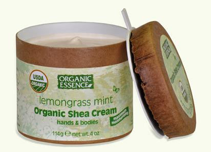 Organic Essence Organic Shea Cream -  Lemongrass Mint