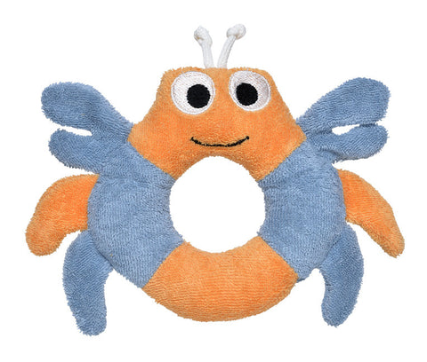 Crab Teething Ring -  100% Organic Cotton