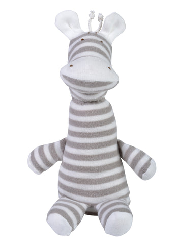 Striped Giraffe Plush -  100% Organic Cotton