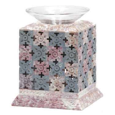 Pastel Geometric Floral Soapstone Oil Diffuser