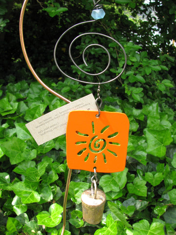 Garden Ornament Chime - Reclaimed Metal - Sunny Day