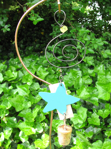 Garden Ornament Chime - Reclaimed Metal - Wishing Star