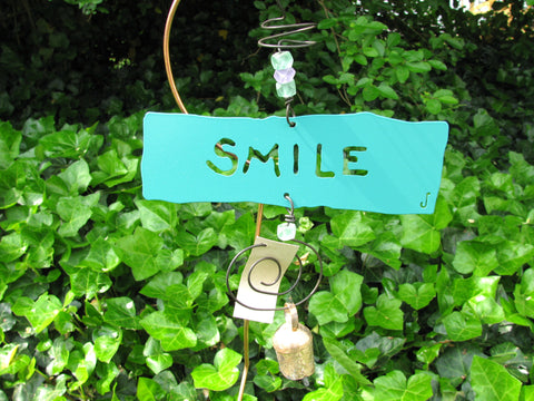 Garden Affirmation Chime - Reclaimed Metal - Smile