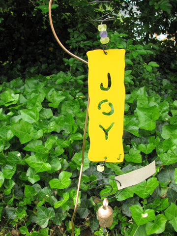 Garden Affirmation Chime - Reclaimed Metal - Joy