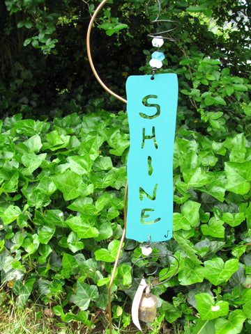 Garden Affirmation Chime - Reclaimed Metal - Shine