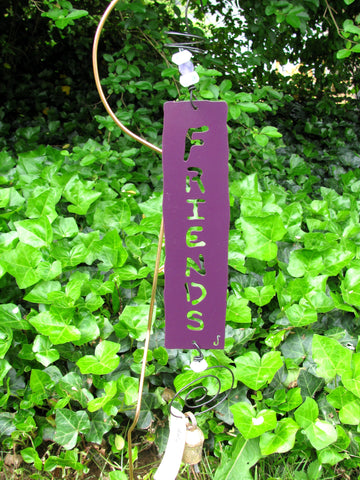 Garden Affirmation Chime - Reclaimed Metal - Friends
