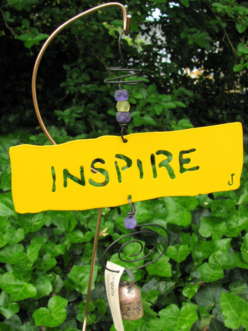 Garden Affirmation Chime - Reclaimed Metal - Inspire