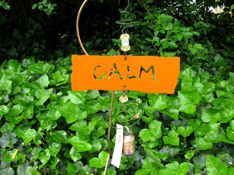 Garden Affirmation Chime - Reclaimed Metal - Calm