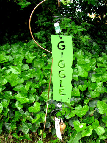 Garden Affirmation Chime - Reclaimed Metal - Giggle