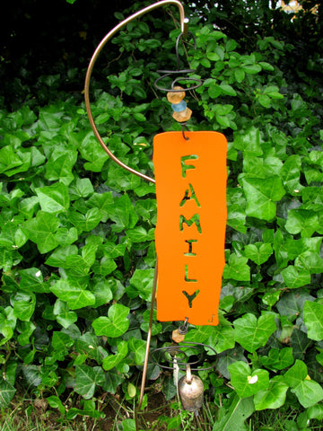 Garden Affirmation Chime - Reclaimed Metal - Family