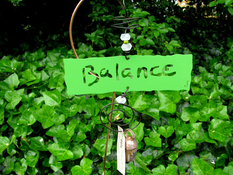 Garden Affirmation Chime - Reclaimed Metal - Balance