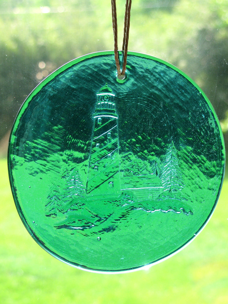 Recycled Glass Suncatcher - Lighthouse
