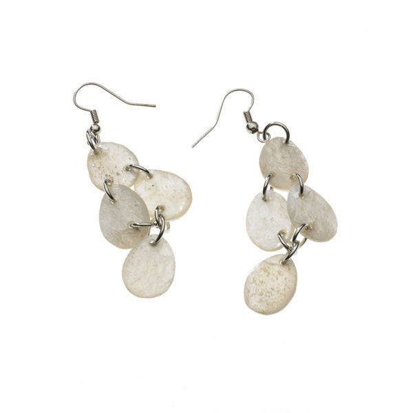 Capiz Shell Waterfall Earrings