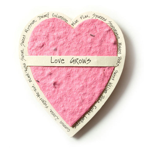 Bloomin Gift Tags-  Pretty In Pink Heart
