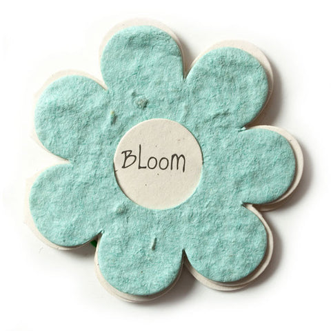 Bloomin Gift Tags-  Powder Blue Flower