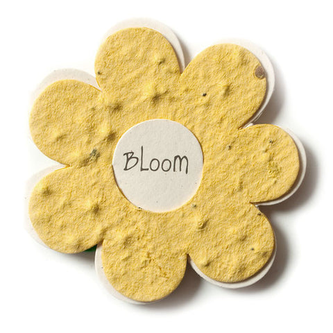 Bloomin Gift Tags-  Yellow Flower