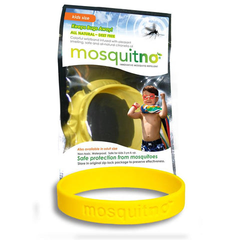 Mosquitno Bug Repelling Kids Wristband - Yellow