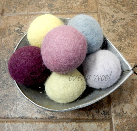 "Artisan Alpaca and Wool Dryer Balls - ""Monstro Algodon"" Set of 6"