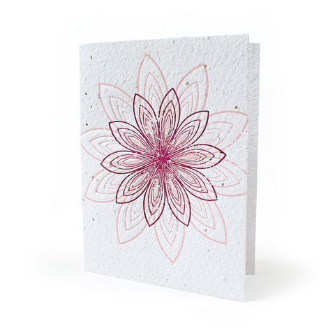Bloomin Blank Greeting Card - Lovely Lotus