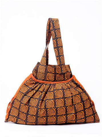 Funky Nepali Burnt Orange Cotton Handbag