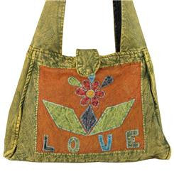 Lots of Love Patchwork Boxy Shoulder Bag