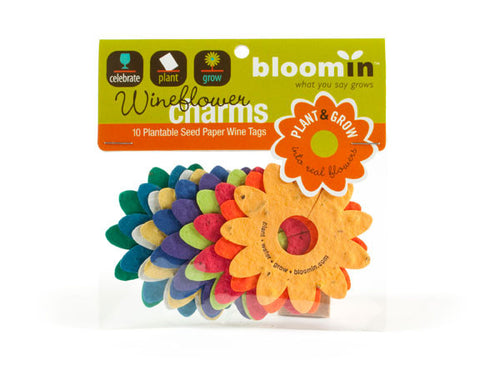 Bloomin Wine Glass Flowers - Brights