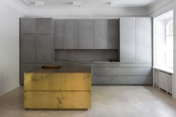 Gold & Gray Apartment : Studio Richard Lindvall