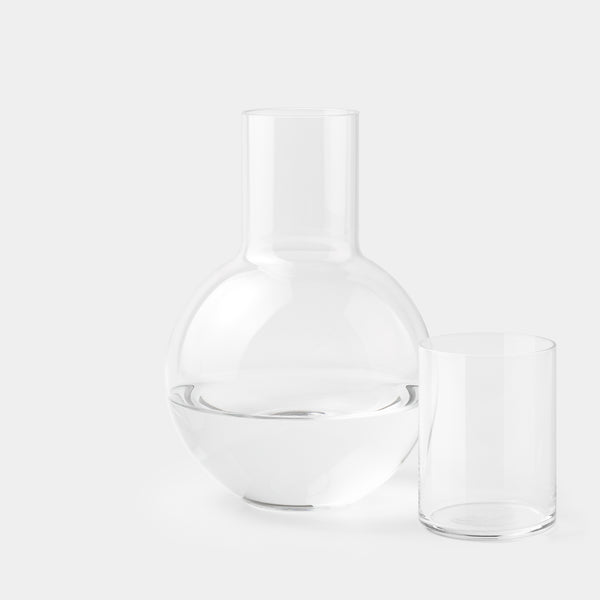 Anna Karlin Bedside Carafe glass on the side