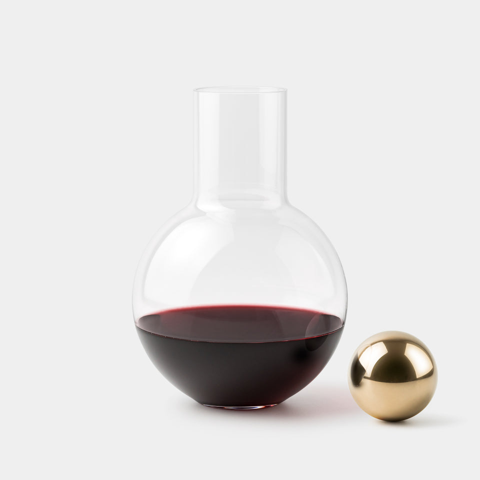 Anna Karlin Decanter brass stopper on the side
