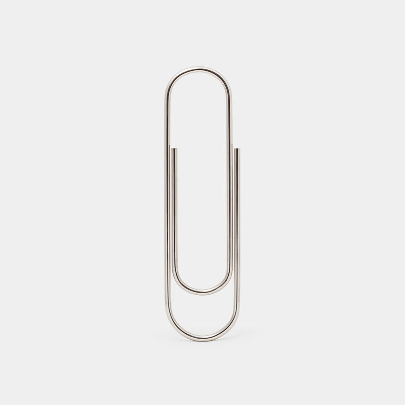 Carl Auböck Oversized Paperclip Tin-Plated Brass
