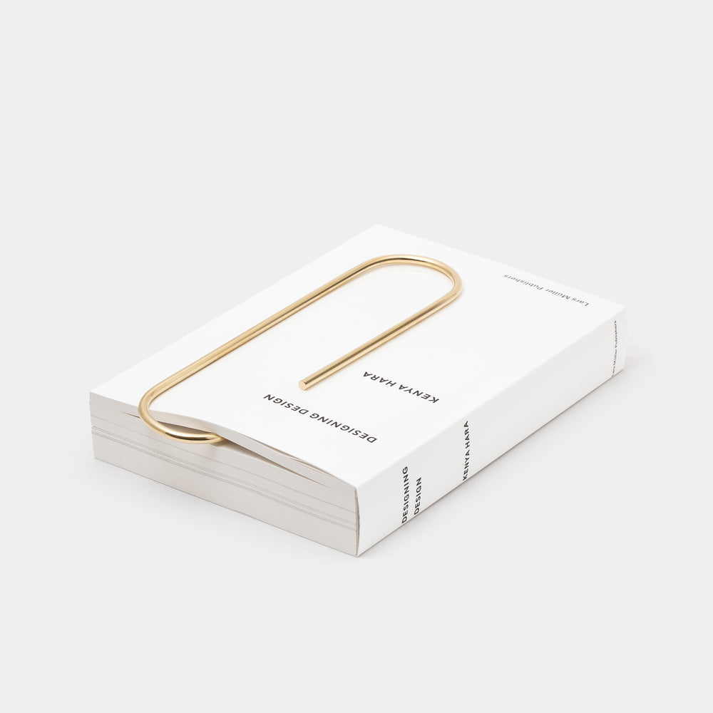 Carl Auböck Oversized Paperclip Brass with book