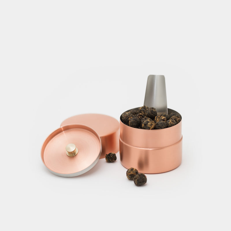 Azmaya Canister Copper Small with tea