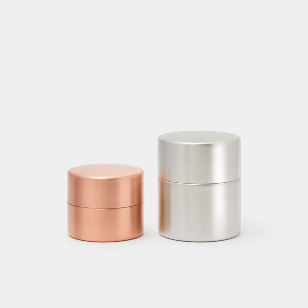 Azmaya Canister Copper Small and Tin-Plated Copper Medium