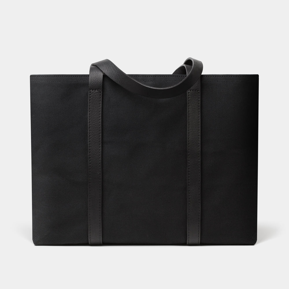 Cano Leather Handle Tote Black