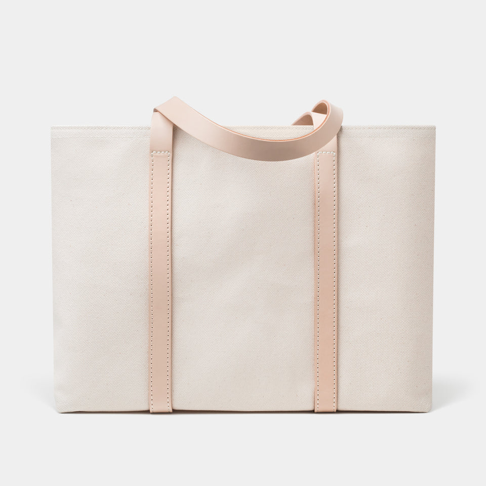 Cano Leather Handle Tote Natural