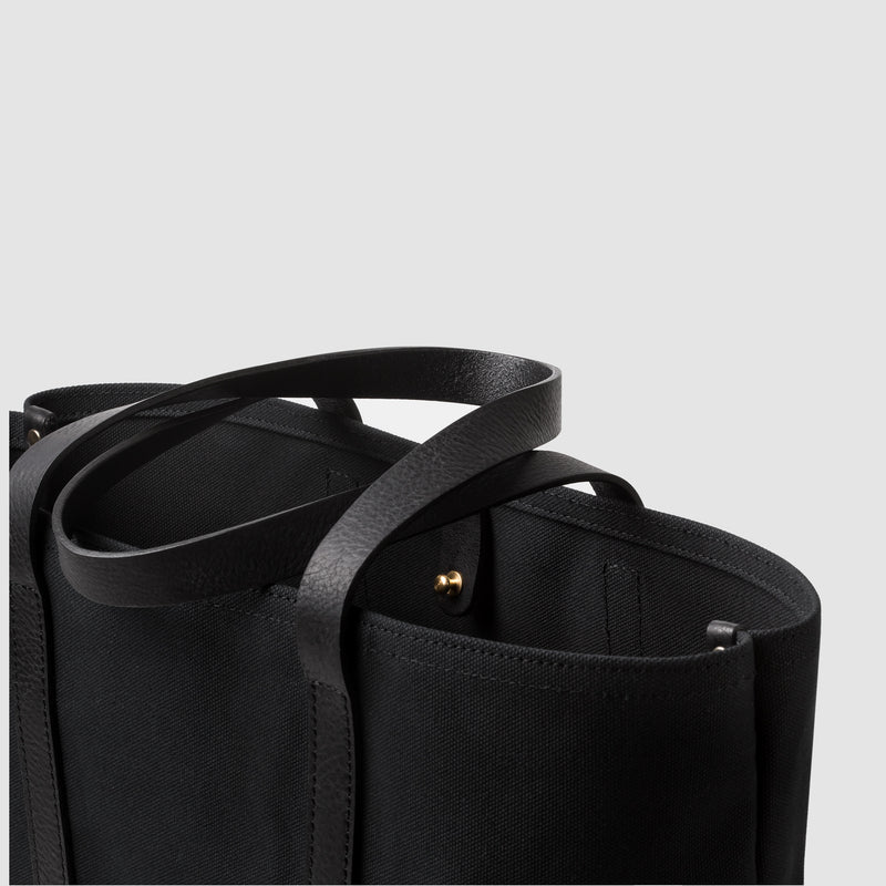 Cano Leather Handle Tote Black close-up