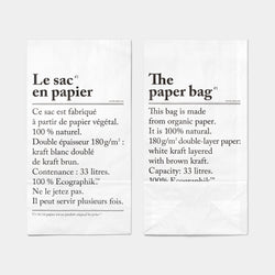 Collection L'Article Paper Bag Large top front and back