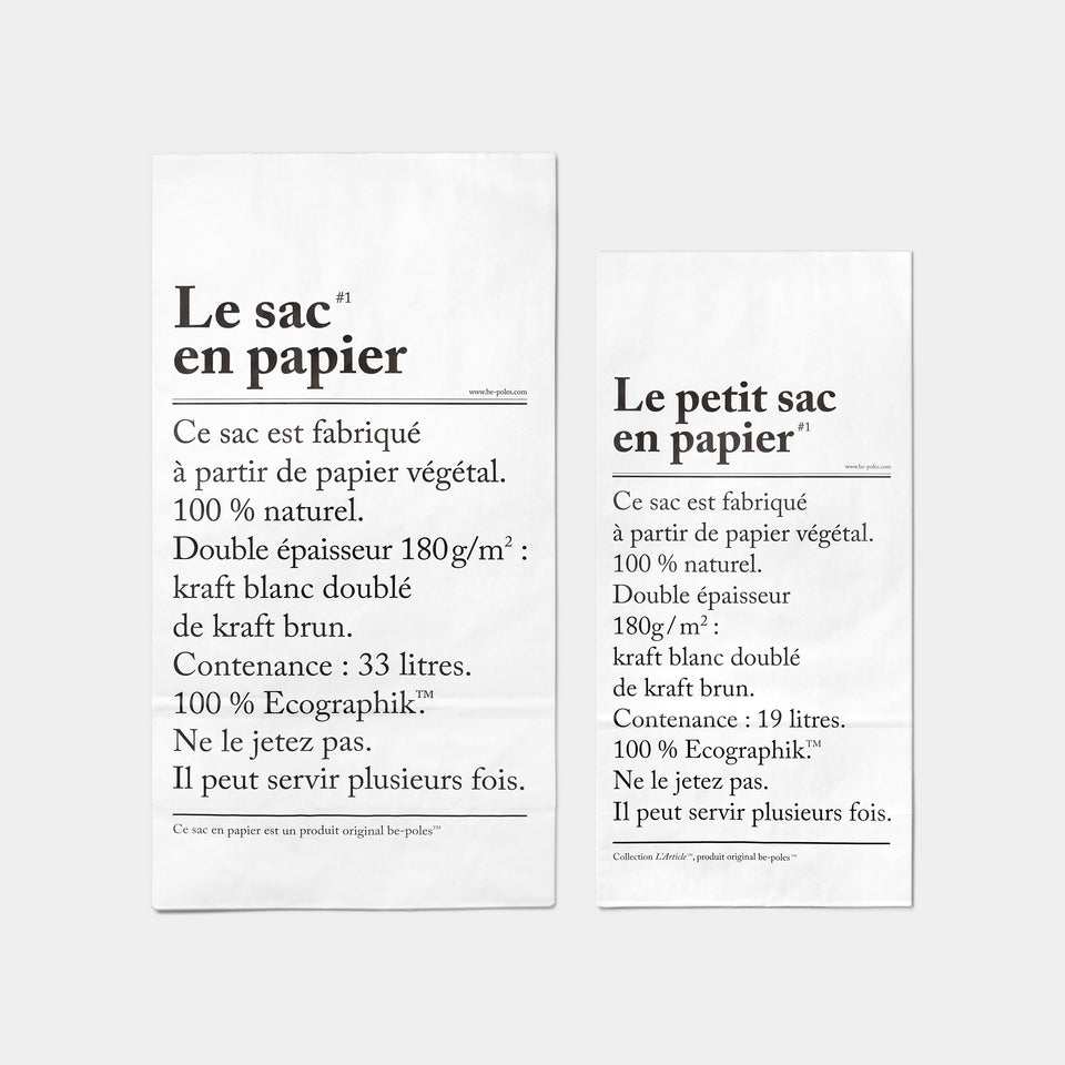 Collection L'Article Paper Bag Small and Large top