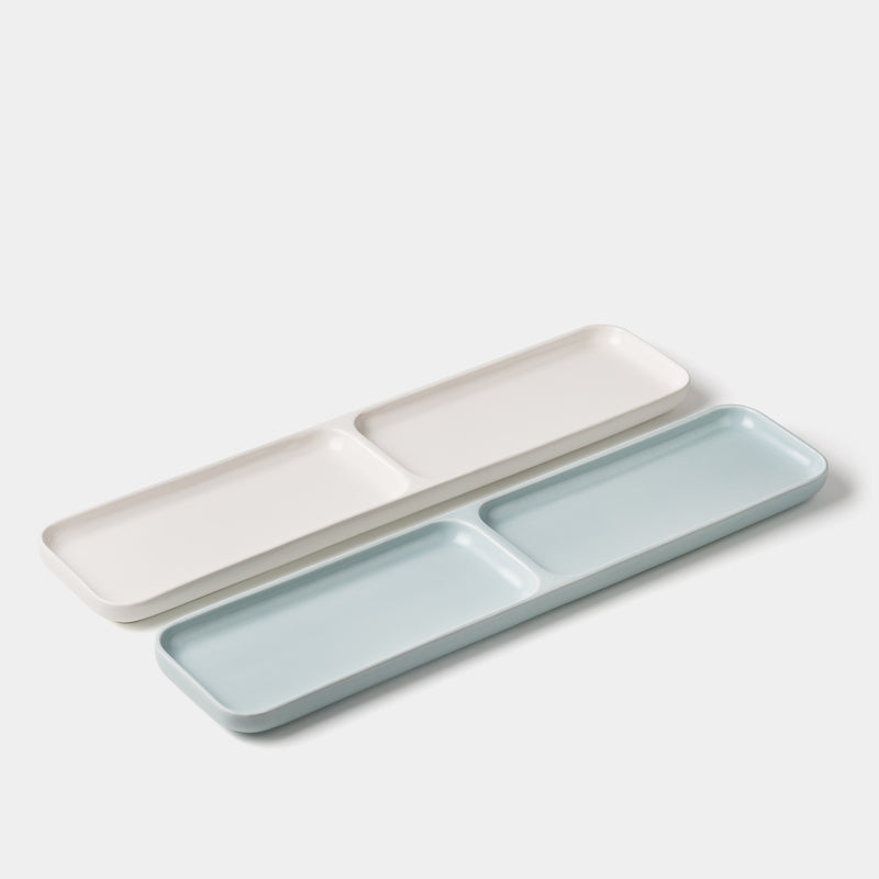 Gidon Bing Desk Tray Satin White/Satin Eggshell Blue angle
