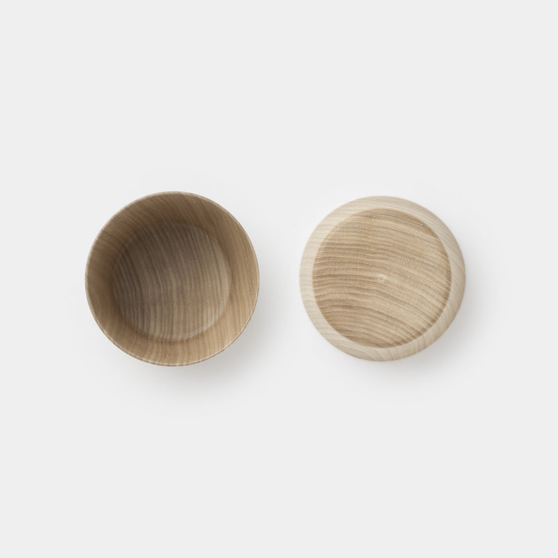 Kami Wood Cup Bowl top and bottom