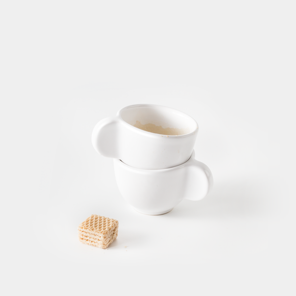 Little Big Ear Espresso Cup (Set of Two) with wafer