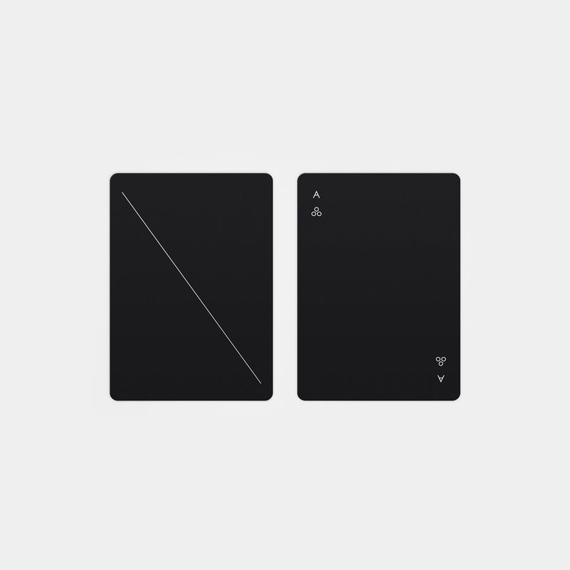Minim Playing Cards Black top