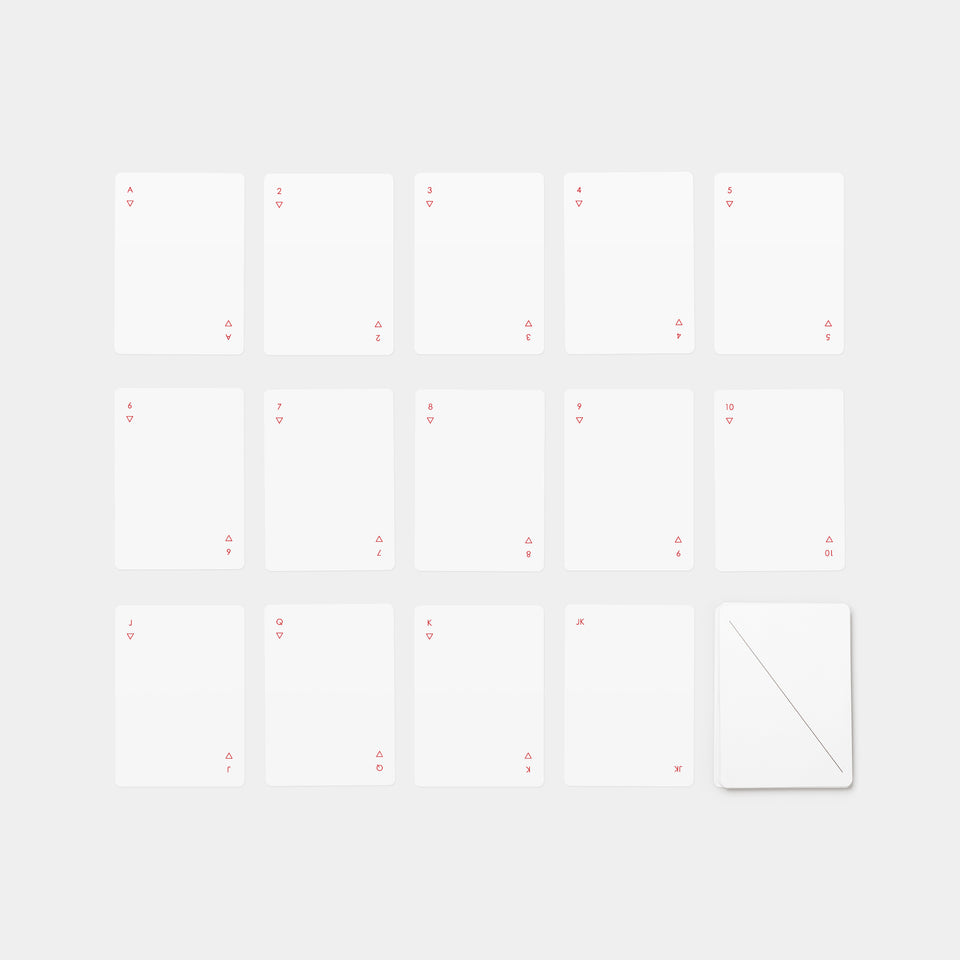 Minim Playing Cards White lineup
