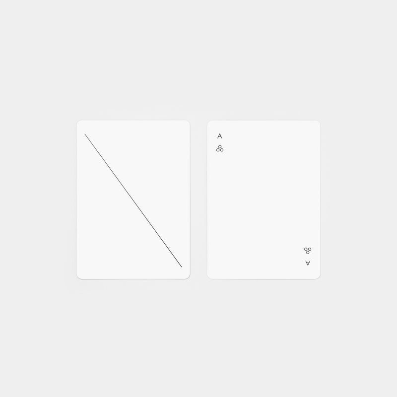 Minim Playing Cards White top