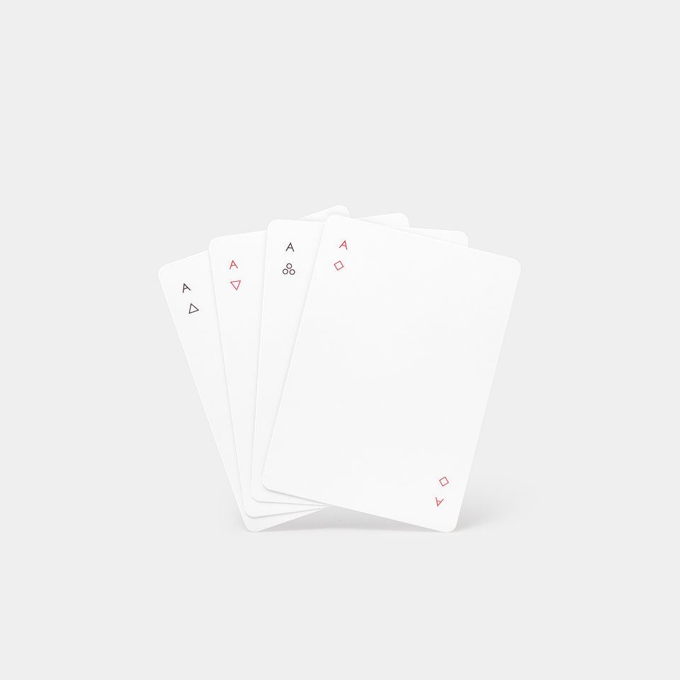 Minim Playing Cards White