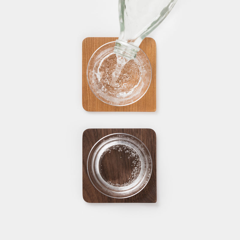 Mogu-Kagu Coasters Cherry and Walnut