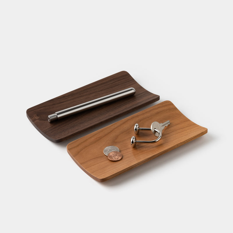 Mogu Kagu Valet Tray Walnut and Cherry
