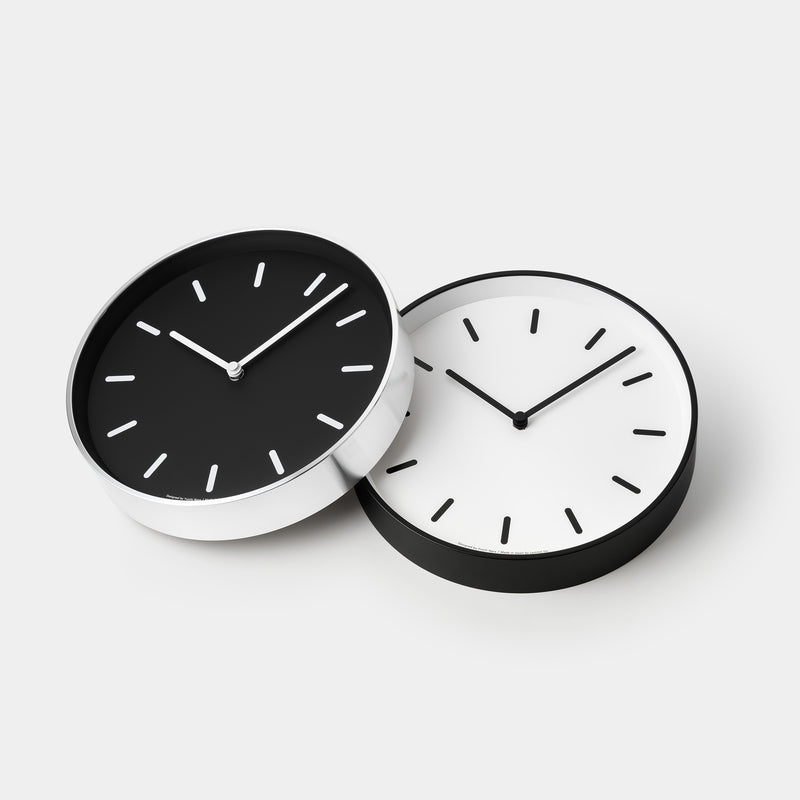 Mono Clock – Black & White angle